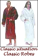 Two classic bathrobes